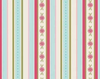 The Quilted Fish Fabric, Sweet Divinity by The Quilted Fish for Riley Blake Fabrics, C6104 Stripes in Blue