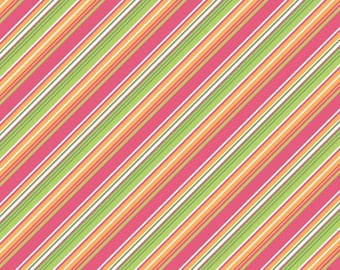 Zoe Pearn Fabric, Summer Song, Summer Song by Zoe Pearn for Riley Blake, Pink Stripes, C7056