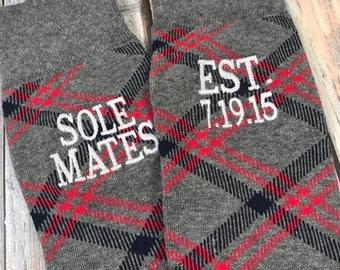 Anniversary Socks - cotton - second anniversary gift - mens dress socks - husband gift - two year anniversary gift - Sole Mates - Mens Socks