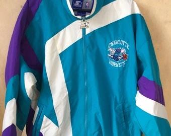 Vintage Charlotte Hornets NBA Starter jacket large