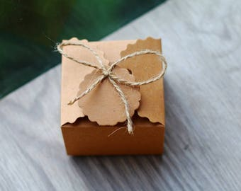 Rustic Favor Boxes - Small Gift Boxes - Small Kraft Boxes - Kraft Boxes 12