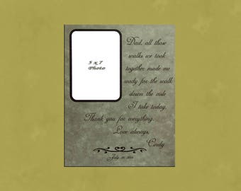 Dad all those walks we took together, Father of the Bride Gift, Father Daughter Frame, Personalized Fathers Gift, Dad, Specially Engraved