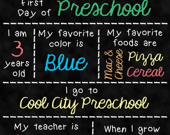 Back to School Chalkboard • First Day of School • Interest Board • Back to School • First Day of School Chalkboard [DIGITAL]