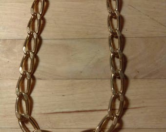 Vintage 1980s goldtone metal chunky link chain necklace
