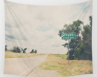 Texas photograph Texas tapestry Route 66 tapestry Route 66 photograph roadtrip  tapestry boho wall art dorm room decor soft throw