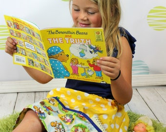 Yellow Berenstain Bears 4 pocket skirt  (2T, 3T, 4T, 5T, 6, 7, 8, 10)