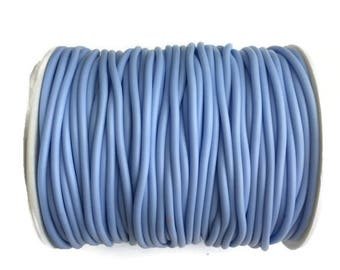 Rubber cord 2mm Blue Hollow Rubber tubing rubber cord S 40 232