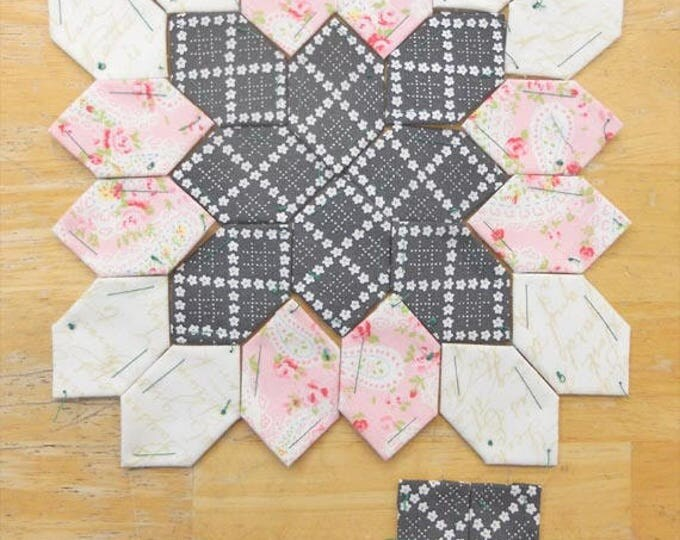 Lucy Boston Patchwork of the Crosses summer cottage block kit #5