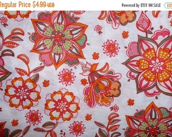 ON SALE 60% OFF On Sale Floral Cotton Linen Fabric by the Yard