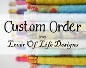 48 Regular Cloth Wipes, 15 Custom Burp Clothes, 10 pairs Nursing Pads
