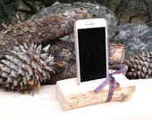 Cell Phone Station, iPhone charging station, mobile phone, desk organizer, wood handmade charger, apple phone stand,