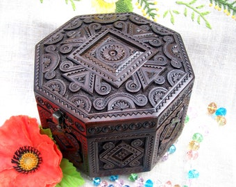 Jewelry box Ring box Wooden jewelry box Wooden box Wood box Jewellery box Jewelry holder Jewelry organizer boite bijoux Jewelry storage B26