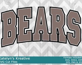 Bears Arched SVG Files