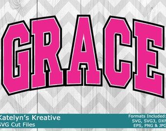 Grace Arched SVG Files