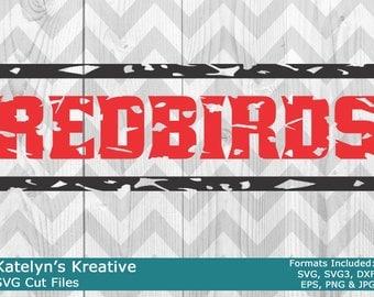 Redbirds Distressed SVG Files