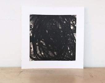 "Art Print . Black white + tan Home Decor. Trace 3. Print Size 8"" x 8"" . unframed ."