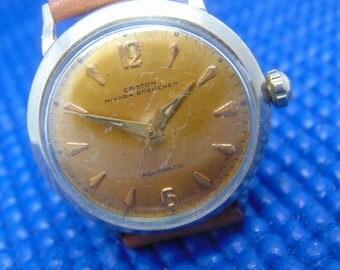 Mens Croton Nivada Grenchen Aquamatic Vintage 17 Jewel Automatic