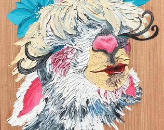 Llama painting original art
