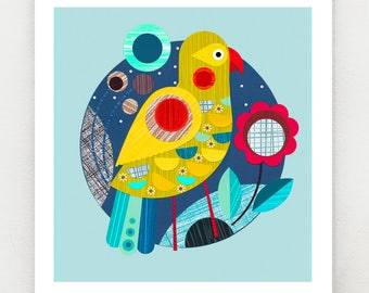 Folk Kea, print