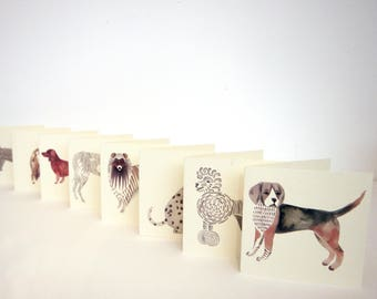 Mini Cards - Illustrated Dogs