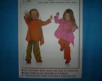 Burda 9678  Size 2-3-4-5-6-7 Girl's shirt and Pants.
