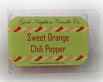 Sweet Orange, Tart Melters, White , 6 cubes, Year Round Use