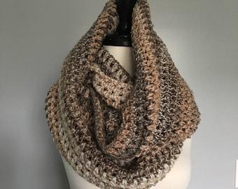 Crochet Neckwaemer Unisex Scarf - CARAMEL