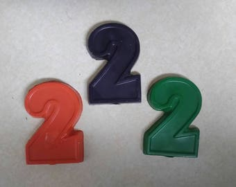 Recycled Crayons. Number Crayons. Numbers. Kids Crayons. Counting. Learning. Party Favors. Crayons. Rainbow Crayons. Number 2 Crayon.