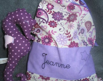 blanket and matching seahorse for Jeanne bag!
