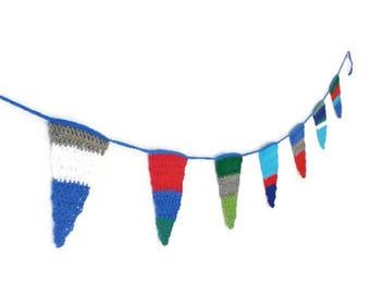 Triangle garland crochet garland crochet bunting flags garland crochet triangle bunting baby shower flags