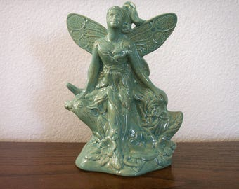 Ceramic Garden Fairy/Sitting