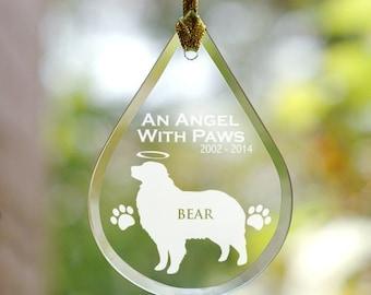 Engraved Dog Memorial Tear Drop Ornament, pet loss, pet memorial ornament, christmas ornament, christmas decoration -gfyL8053111-Labrador