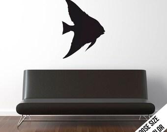Angel Fish Wall Decal  - Pet, Aquarium, Sea Life - Vinyl Sticker