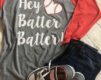 Hey batter batter! Baseball shirt