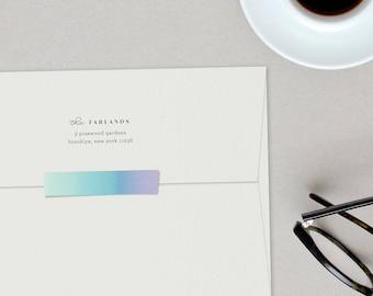 Typographic Custom Return Address Stamp