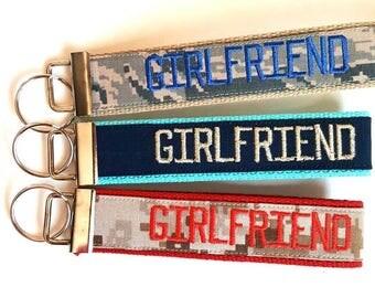 Military GIRLFRIEND Personalized Keychain