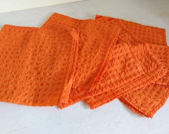 Vintage Orange Napkins Mixed Set x 6
