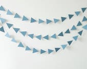 40% OFF - Gray Triangle Garland, Geometric Garland, Geometric Bunting, Triangle Bunting, Rainbow Garland, Wall Decor, Garland, Bunting