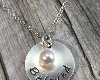 Beloved, sterling silver necklace