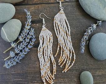 Elegant Beaded Fringe Earrings