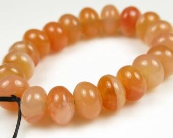 Sweet ~ Luscious Carnelian Smooth Rondelle Bead - 7mm x 5mm - 20 beads - B7265