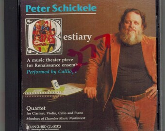 "Peter Schickele CD ""Bestiary"" A Music Theater piece for Renaissance ensemble"