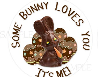 24 STICKERS, Personalized Easter Stickers, Easter Bunny Stickers, Happy Easter Stickers, Bunny Stickers, Easter Envelope Labels  (544)