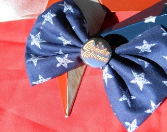 Wonder Woman inspired fabric bow