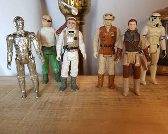 Lot of 6 vintage star wars action figures Jedi empire