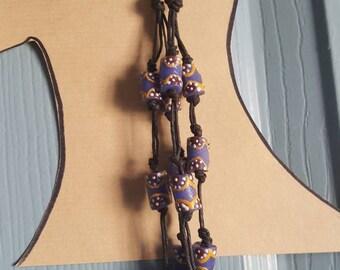 Krobo bead dangle earrings, African bead earrings