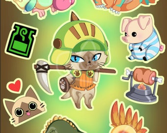 Monster Hunter Sticker Sheet