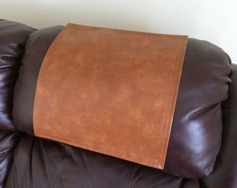Recliner Pad, Furniture Protector, Vinyl Bittersweet, 14x30, Sofa, Loveseat, Theater Seat, RV Cover, Chair Cap, Headrest Pad, Head Cover