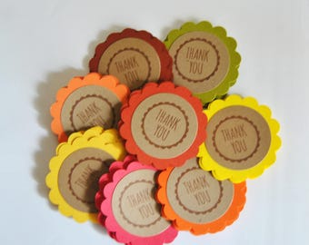 40 favor thank you gift tags. Thanksgiving fall autumn mix. primitive. woodland. rustic . wedding . card making supply. scrapbooking