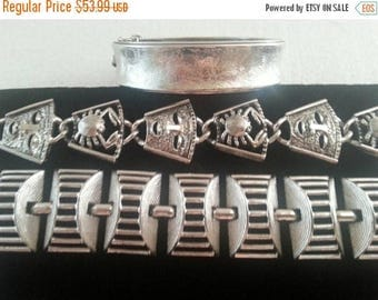 Now On Sale Vintage Sarah Coventry Bracelets Lot Set of 3 Chunky 1960's 1970's Collectible Retro All Designer Signed Vintage Jewelry